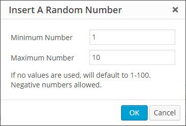 A Random Number Popup